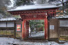 Kenrokuen Garden in winter