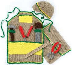 Picture of Handy Andy Tool Set Crochet Pattern