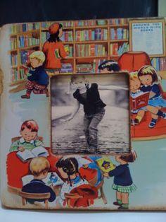 My Sweet Savannah: recycling vintage childrens books Old Children's Books, Vintage Children's Books, Vintage Crafts, Vintage Kids, Vintage Journals, Altered Books, Altered Art, Book Page Crafts, Book Projects