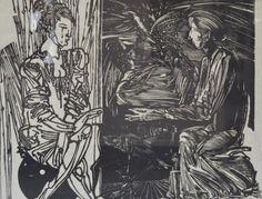 Ziua și noaptea – Mircia Dumitrescu | EliteArtGallery - galerie de artă Romania, Graphic Art, Gallery, Roof Rack