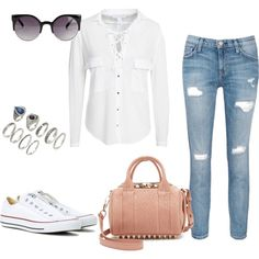 Untitled #189 by charlotte-down on Polyvore featuring polyvore, fashion, style, NLY Trend, Current/Elliott, Converse, Alexander Wang, Forever 21, NLY Accessories and clothing