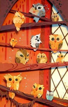 Owl Art. The Art of Brittney Lee, britsketch on Etsy.