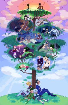 Kurapika, Leorio, Killua, and Gon ~Hunter X Hunter Hunter X Hunter, Hunter Anime, City Hunter, Leorio Hxh, Hisoka, Anime Naruto, Manga Anime, Anime Bebe, Yoshihiro Togashi