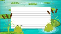 Unit of Work - Frogs CNPS2 - writing proformas