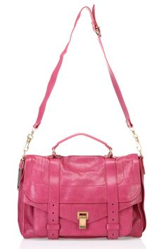 Love this color! Proenza Schouler PS1 Large Shoulder Bag In Raspberry - Beyond the Rack