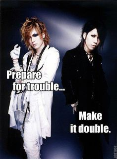 Uruha. Lead Guitar. Aoi. Rhythm Guitar. The GazettE. Team Rocket reloaded.