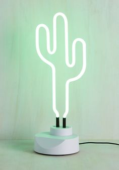 Desert Glows Lamp. Writing a love note by the green gleam of this neon light will infuse your letter with lyrical zest! green modcloth ...