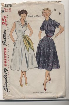 Simplicity 3876 sewing pattern
