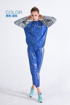 Sweat clothes slimming clothes sauna clothes sweat clothes sports perspiration men and women control body fitness slimming sweat slimming detoxification SEXY HOT BLUE PHATPHATIYA RIDER Nylons, Pvc Leggings, Sweat Clothes, Pvc Hose, Vinyl Clothing, Vinyl Dress, Gym Wear For Women, Pvc Raincoat, Plastic Pants