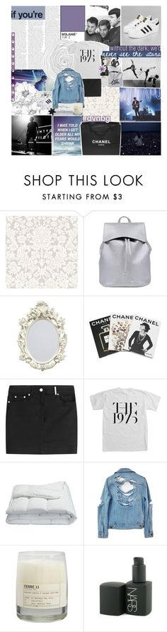 """""""MOONDUST IN YOUR LUNGS"""" by pheachy ❤ liked on Polyvore featuring Assouline Publishing, Kenzo, Frette, Blink, High Heels Suicide, Chanel, Le Labo, ASOS, vintage and dvsnbg"""