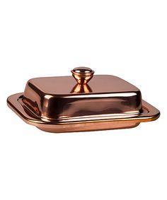 Copper Lid Butter Dish by Home Essentials and Beyond #zulily #zulilyfinds