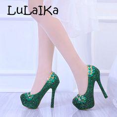 beeddf87 40.71 22% de DESCUENTO|Aliexpress.com: Comprar 2018 zapatos de boda para  mujer zapatos de fiesta de novia de perlas blancas de cristal verde zapatos  de ...