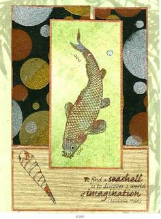 Seashell and Bream (Dee Richardson)  Unmounted Rubber Stamps