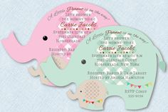 Elephant Baby Shower Invitations, Circus Baby Shower Invitation, Jungle Baby Shower, Peanut, Safari Baby Shower, Baby Boy, Baby Girl by newyorkinvitations on Etsy