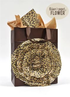 Silhouette Blog: Tissue Paper Flower Gift Bag {tutorial}