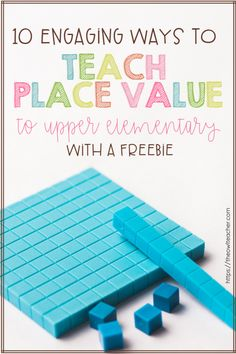 Learn 10 engaging ways to teach place value to your upper elementary students and grab a freebie! Maths Guidés, Math Classroom, Teaching Math, Math Fractions, Teaching Ideas, Future Classroom, Classroom Ideas, Dividing Fractions, Math 5
