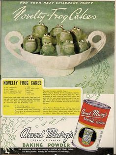 Aunt Mary's Novelty Frogs resemble depressed Brussels sprouts. And they think deep thoughts about liberty while pondering their next - or rather, first - move out of their porcelain prison.  In other words, Aunt Mary throws the worst children's parties in town.