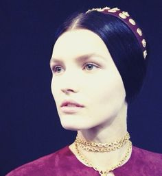 """Valentino Spring 2014 Hair (inspired by Franco Zefferelli's 60's """"Romeo and Juliet"""", no doubt)."""