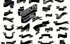 Download Banner Ribbon Png Black And White Png Gif Base Ribbon Png Vintage Ribbon Banner Vintage Banner