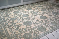 Pale Green Ivory Floral Carved Rug Classic Flowered Raised design 160x230cm in Home, Furniture & DIY, Rugs & Carpets, Rugs | eBay