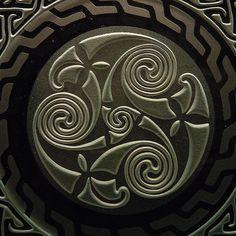 Celtic spiral closeup