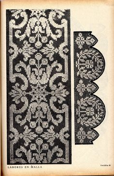 Cross Stitch Sampler Patterns, Cross Stitch Borders, Cross Stitch Samplers, Cross Stitching, Cross Stitch Embroidery, Hand Embroidery, Filet Crochet Charts, Crochet Borders, Knitting Charts