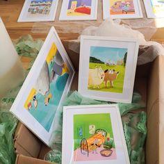 Preparing artworks from Rover and Monster by @MichaelRosenYes for forthcoming exhibition and event @pickledbooks #michaelrosen #pickledpepperbooks #neallayton #bloomsburykids
