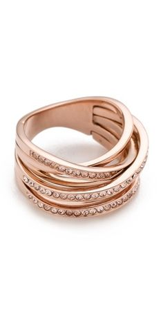 Michael Kors Pave Stack Ring | rose gold-a good right hand ring since the left hand is taken :oD