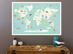 Our Earth Customizable Map for Kids by Children Inspire on Etsy