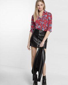 slim fit long sleeve print portofino shirt