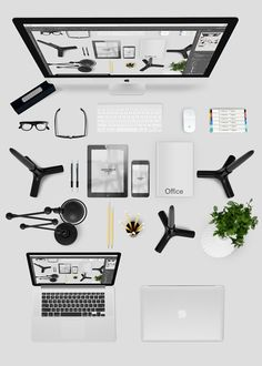 Minimal Bundle Office Desk Graphics I¡¯m happy to offer you this Minimal PSD mockup desk that you can use to create custom office workspa by Graphictwister