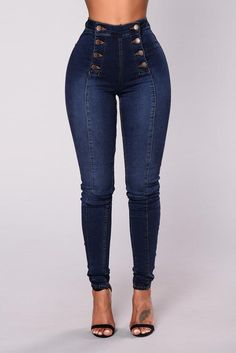 Fashion Nova has the best selection of women's high waisted jeans online. From high waisted flare jeans to high waisted skinny jeans and distressed denim to boyfriend high rise jeans, you'll find it all here. Best Jeans For Women, Pants For Women, Clothes For Women, Casual Jeans, Jeans Style, Trendy Jeans, Olive Green Cargo Pants, Mode Kimono, Mode Chanel