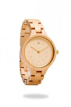 4e51a42a8ae4 MAM ORIGINALS - Reloj de madera geese Arce Relojes De Madera