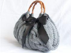 Tricot femmes sac à main gris tomber mode automne hiver par NzLbags