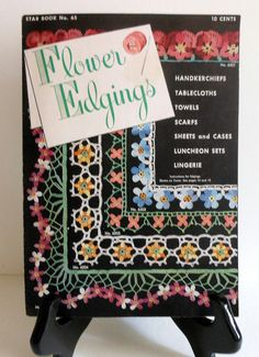 Vintage Crochet Floral Edgings Patterns