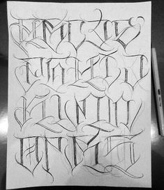 This image may contain: rice ., Tattoo, This image may contain: drawing. Lettering Styles Alphabet, Graffiti Alphabet Styles, Tattoo Lettering Styles, Gothic Lettering, Chicano Lettering, Graffiti Lettering Fonts, Tattoo Fonts Alphabet, Cursive Tattoos, Letter Writing Pattern