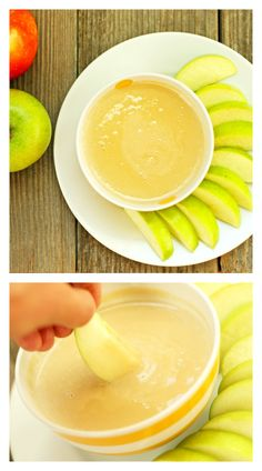 You should try this dip with your kids - our kids loved it and ate way more apples than they would normally! from Super Healthy Kids