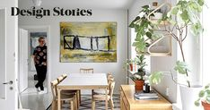 """Olli-Pekka favors classics and vintage: """"I do not want disposable things in my home"""" Dining Area, Dining Table, Light Colored Wood, Work Surface, Marimekko, Simple Style, Home And Living, New Art, Bookshelves"""