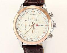 Luxusné pánske hodinky Curren v bielej farbe