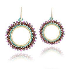London Jewellery Brand Azuni large hoop boho beaded earring