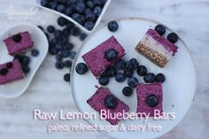 These creamy lemon blueberry bars are secretly healthy and sweet enough for a dessert or nutritious enough for breakfast!