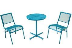 Bixby 3pc Turquoise Bistro Set