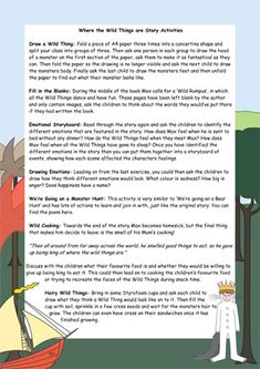Where the Wild Things are Activity Ideas