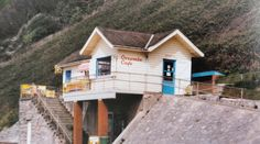 Old cafe at Orcombe Point