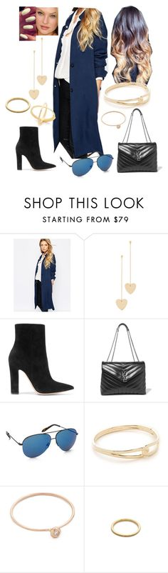 """Bez tytułu #18299"" by sophies18 ❤ liked on Polyvore featuring VILA, Cloverpost, Gianvito Rossi, Yves Saint Laurent, Victoria Beckham, Kate Spade, blanca monrós gómez, EF Collection and Elizabeth and James"