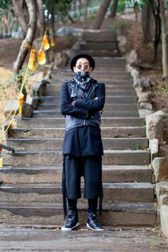 On the street... Kang Dukhyun Busan | echeveau Hat | Ca4la Sunglasses | Shuron Coat | Zara  Vest | Costume National Pants | KTZ Shoes | Y3
