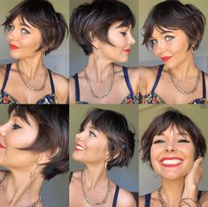 Bob Hairstyles For Fine Hair, Haircuts With Bangs, Cool Hairstyles, Bob With Bangs, Long Pixie Cut With Bangs, My New Haircut, Pixie Haircut, Short Hair Cuts, Short Hair Styles