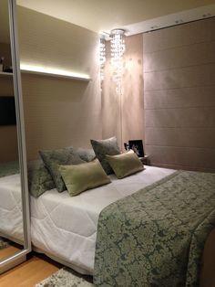 Liberty, cliente CF: O quarto de casal deve ser aconchegante. Todos os detalhes falam um pouco do casal clean e clássico