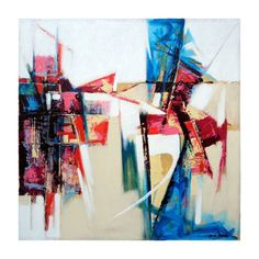 Buy Abstract painting, abstract art painting Online on Canvas Size : 24 inch x 24 inch Online Artist Bhadrakant Shah, Abstract Modern Art painting Visit : http://www.fizdi.com/brands/Bhadrakant-Shah.html