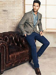 Moda masculina, no Domingo de plantão de vendas, vir com uma roupinha mais estilosa num faz mal, né?!